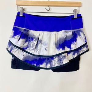Lululemon Speed Squad Skirt Shorts Skort Milky Way